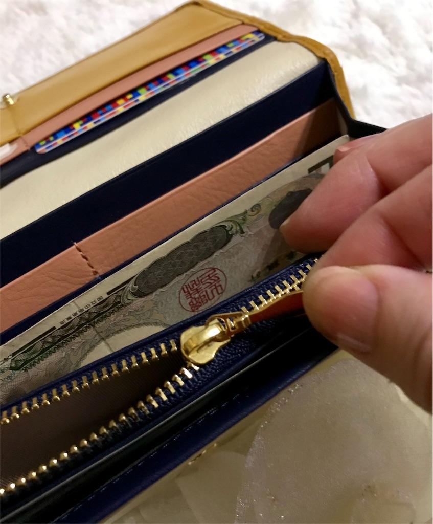 レディース長財布引き手を引くところ