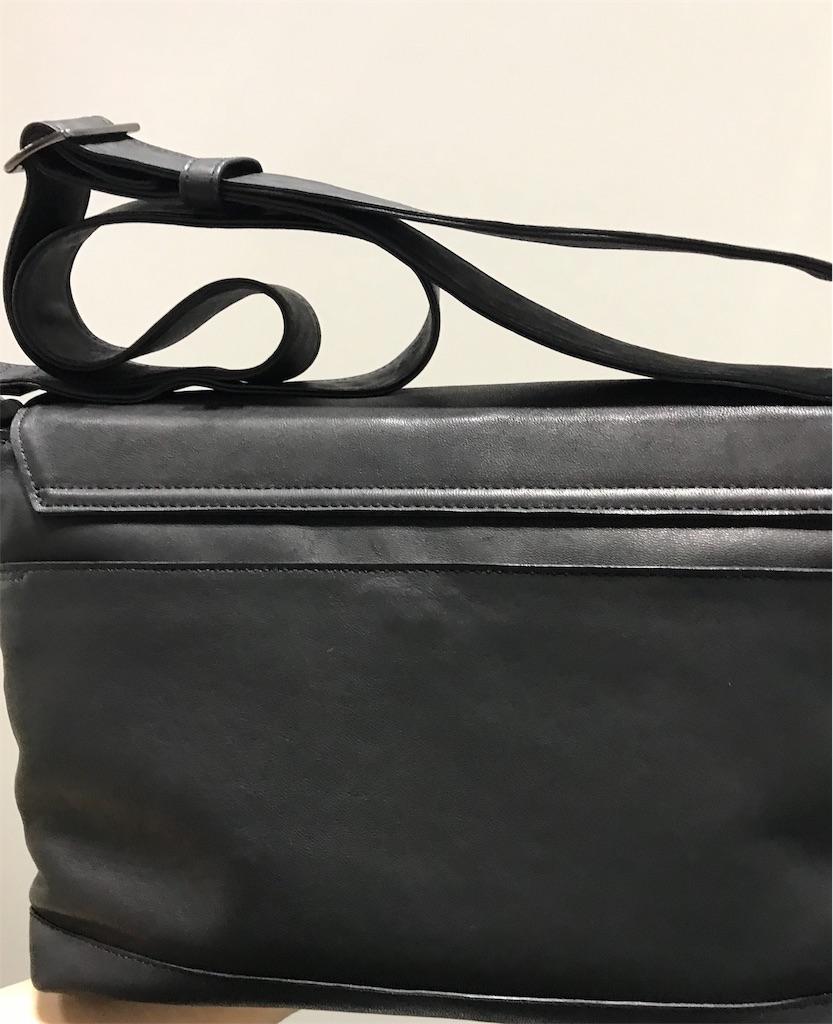 ナガタニ馬の革のショルダーバッグ
